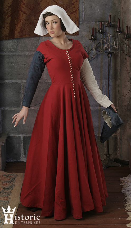 Outfit, Ladies', 15th C. gown